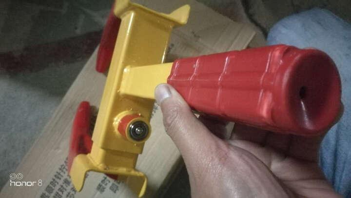 趣行 A型三角手动车位锁 加强槽耐压一体成型底座 抗碾轧挂锁式车库挡车器停车地锁 双锁版 晒单图