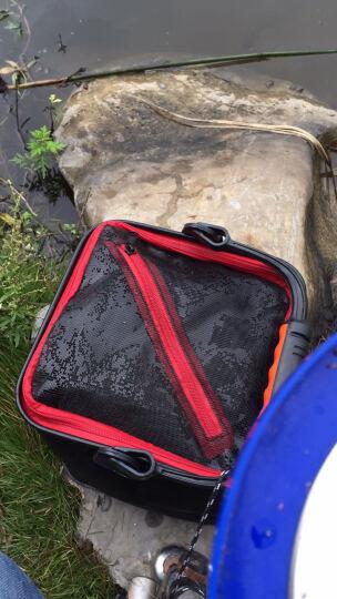 TAB加厚EVA打水桶方形折叠钓鱼活鱼桶带绳小鱼桶垂钓鱼护桶鱼桶 黑色20CM(提绳款+打水绳) 晒单图