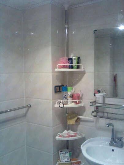 科尼威 置物架 浴室收纳架 卫浴厨房收纳架 顶天立地浴室角落架 4个托盘1个毛巾杆 晒单图