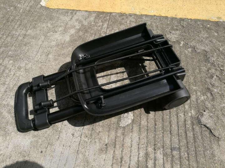 旅行行李车便携小推车小拖车折叠拉杆车购物车运货小车承重约30kg(小黑轮) 晒单图