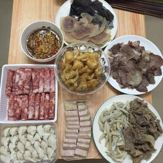 恒都 全牛火锅套餐 1.29kg (内含肥牛卷、牛肉丸、牛肚等) 谷饲牛肉 火锅食材 晒单图