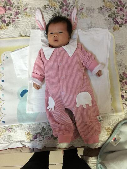 十点伴宝连体衣春秋新生儿衣服长袖女婴儿秋装 6-12个月开衫哈衣爬服 粉红色 80 晒单图