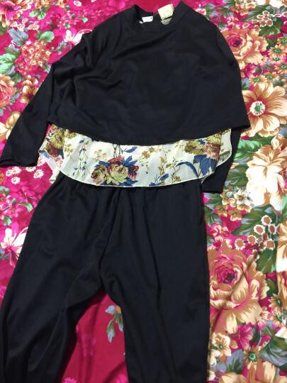 法格娜 连衣裙2017秋季新款韩版女装蕾丝长袖印花套装时尚休闲九分裤裙子气质洋气两件套 红色 L 晒单图