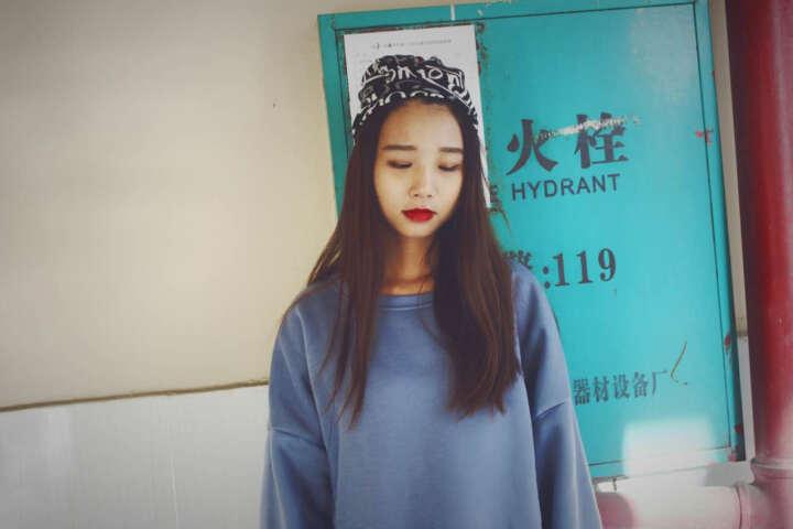 美丽公主(BEAUTIFULPRINCESS) 唯美气质头巾发带发箍洗脸发套运动女头饰品 24#潮流文字黑色 晒单图
