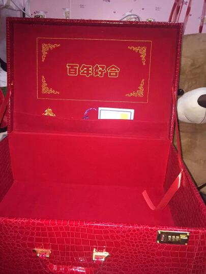 阿里奴结婚箱子红色婚庆箱包木制皮箱官箱新娘复古小号密码箱手提结婚旅行箱行李箱礼金箱嫁妆箱包 12寸 晒单图