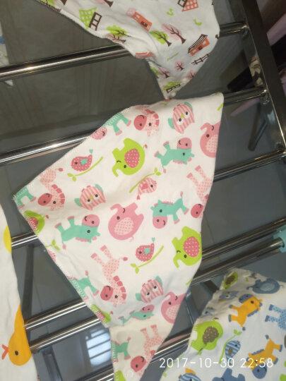 五羊(FIVERAMS)婴儿棉柔三角巾围嘴宝宝口水巾卡通头巾 6条装 晒单图