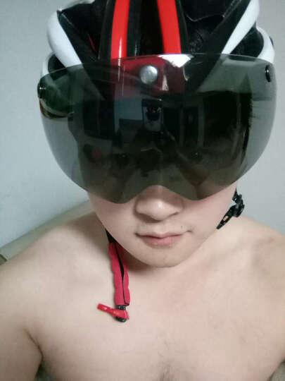 NE&CE 近视可用磁吸式带风镜骑行头盔眼镜一体成型 自行车头盔男女山地车安全帽子带尾灯0000 S头盔粉色(磁吸式风镜款) 晒单图