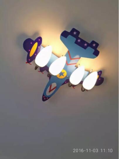 优之灯 led儿童房灯吸顶灯具 温馨餐厅卧室灯男孩女孩遥控护眼创意飞机个性灯饰现代简约卧室灯 注意 飞机灯适用灯泡16W白光 晒单图