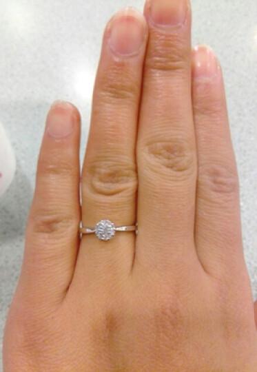 永富钻石 白18K金钻戒 求婚订婚结婚戒指钻石女戒 婚戒女款 18k金 2.5克拉效果60分FG色 订制款 晒单图