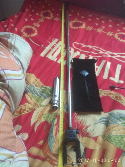 PZOZ 自拍杆手机神器自拍棒苹果iphone7/7Plus小米三星华为通用支架轻便携 线控款(大镜子)-枚红 晒单图