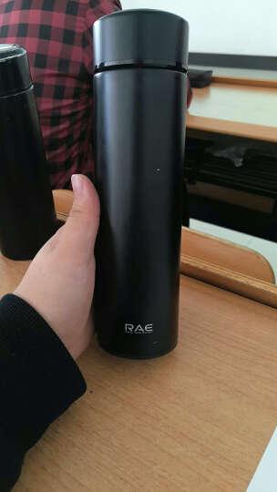 然也(RAE)450ml双层不锈钢保温杯 大容量过滤车载男女士情侣学生商务水杯 车载带滤网泡茶杯子 粉色 R3316 晒单图