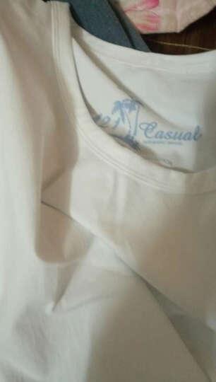 A21以纯2016夏装男装修身圆领纯色冰爽棉短袖T恤男4621330153 黑色 170/84A/M 晒单图