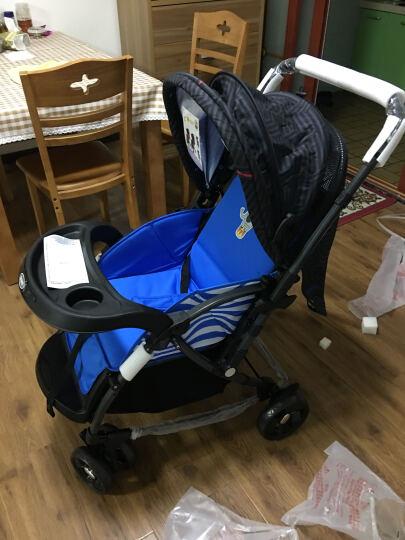 宝宝好 婴儿推车双向避震可躺可坐小孩子儿童手推车轻便折叠可变摇椅 新款宝蓝色-(全面轮) 晒单图