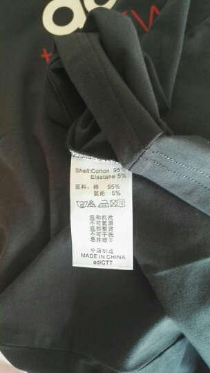 阿迪达斯Adidas男装短袖T恤2019新款透气舒适男子运动休闲短袖Tee 大LOGO-黑/蓝 XL 晒单图