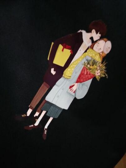 学生简约百搭个性油画少女帆布包女单肩包文艺布袋手提书包韩国版-网 长辫子女孩-黑 晒单图