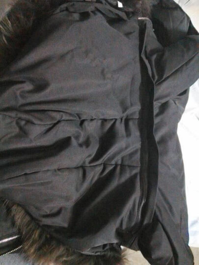 波司登男装羽绒服男加厚中长款2017冬季新款中年男士商务休闲冬装大衣 时尚毛领外套 黑色 175 晒单图