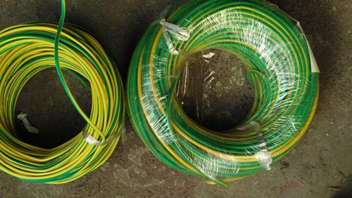 YODA 永达 国标BV1.5平方50米/纯铜芯单芯单股硬线/照明线插座线安全家装电线 国标BV1.5 黄绿双色50米 晒单图
