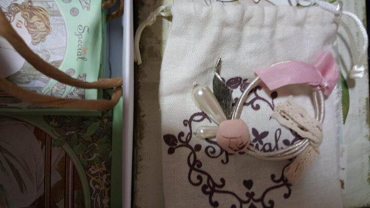 SPECIAL欧美手工防滑弹力甜美花朵减龄衬肤多绳发饰头饰女发圈发绳头绳 玫瑰花物语 2020新款 粉色 晒单图