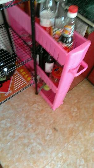 十一维度 厨房置物架夹缝置物架储物架可移动带滑轮浴室收纳架缝隙整理车 加厚四层(玫红) 晒单图