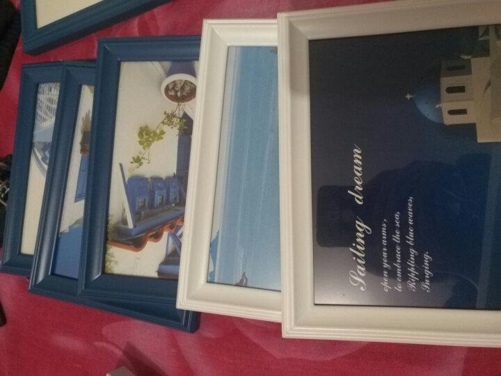 亮丽馨 照片墙相框组合 相框架相片墙油画装饰画客厅卧室画墙贴画框沙发背景墙 11框+船舵+白色+地中海画心 晒单图