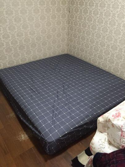家纺床上用品全棉床笠床罩床套纯棉床垫套 简约风单人双人床 初晴-粉 180*200CM单床笠 晒单图
