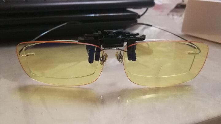 Gameking 无框平光 电竞眼镜夹片  防蓝光男女款专业近视眼镜夹片 琥珀色镜片 晒单图