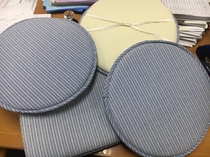 硬质棉坐垫椅垫 餐桌椅子坐垫 梯形温莎椅垫 蓝白条方垫 41*45cm 晒单图