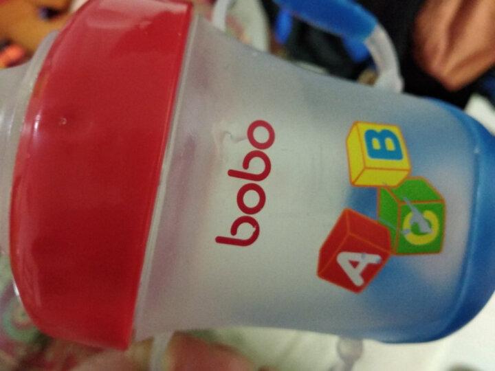 乐儿宝(bobo)婴儿学饮杯防漏吸管杯宝宝喝水杯(双手柄鸭嘴杯170ml红色) 晒单图