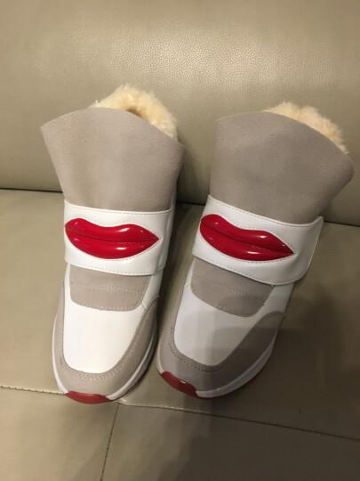 雅丝雨 雪地靴女冬季短筒靴加绒保暖 内增高女鞋 棉鞋女学生冬季保暖加绒 时尚运动休闲棉靴女 黑色不加绒 37 晒单图