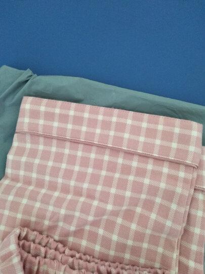 红豆居家男女士情侣长袖纯棉梭织磨毛睡衣秋冬全棉家居服套装 女士粉红 170 晒单图