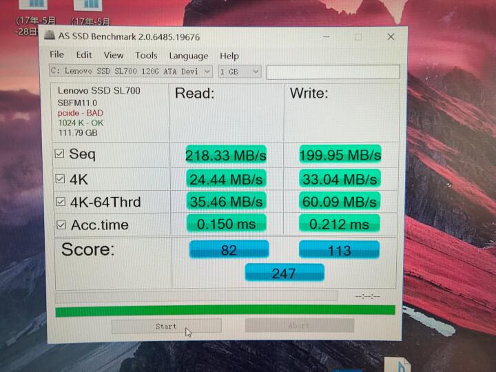 联想(Lenovo)SL700 480G SATA3 固态宝系列 SSD 固态硬盘 晒单图