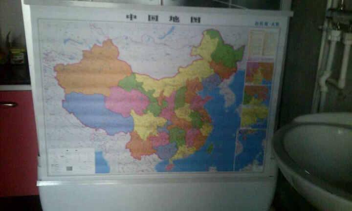 2018 启航版 世界+中国地图挂图套装 附图:京津冀、沪宁杭,珠三角局部地图 晒单图