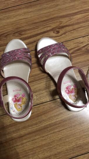 迪士尼女童凉鞋童鞋2017夏季新款儿童凉鞋女公主鞋小童宝宝凉鞋 金色 34 晒单图