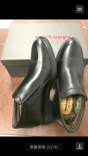 法国芭步仕男靴新款马丁靴头层牛皮真皮雪地靴商务鞋皮靴棉鞋靴子 棕色系带 43 晒单图