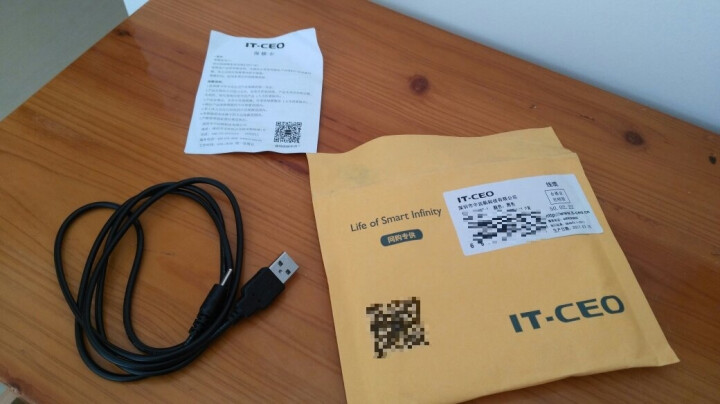 IT-CEO Y1DC-1 USB对DC直径2.5X0.7毫米充电线1.2米长 适用纽曼M7/G17/g27/T9/T10/V9/S97/T3平板电脑 黑色 晒单图