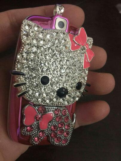 小迷你儿童手机 男女学生卡通手机 可爱凯蒂猫 招财猫 个性定位 袖珍直板小手机 蓝色  凯蒂猫 晒单图