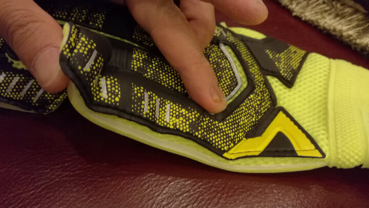 砂钰守门员手套带护指 成人 门将手套儿童 加厚乳胶防滑 足球比赛训练 882款:蓝色 9号 晒单图
