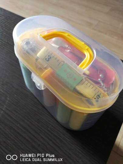 迈利达 透明收纳针线盒套装 家用缝纫修补DIY缝纫线工具 缝纫线便携式迷你针线包 黄色 晒单图