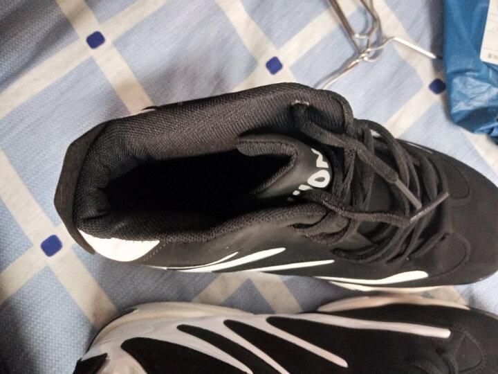 赏情 运动鞋男女鞋新款气垫跑步鞋耐磨防滑篮球鞋保暖加绒棉鞋中帮情侣慢跑鞋 8812NB361中帮单鞋黑白 41 晒单图