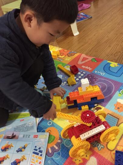邦宝大颗粒启蒙益智早教幼儿童积木拼插玩具桶装 136颗粒数学基础认知火车 6532 晒单图