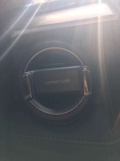 绿联 车载手机支架 车用出风口导航手机架 汽车360度旋转可伸缩卡扣式手机座 支持苹果华为手机 30751 黑蓝 晒单图