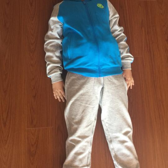 鸿星尔克ERKE童装套装 儿童运动开衫带帽卫衣男女童套装 秋季新品长袖上衣长裤子服装 洋红-男 120 晒单图