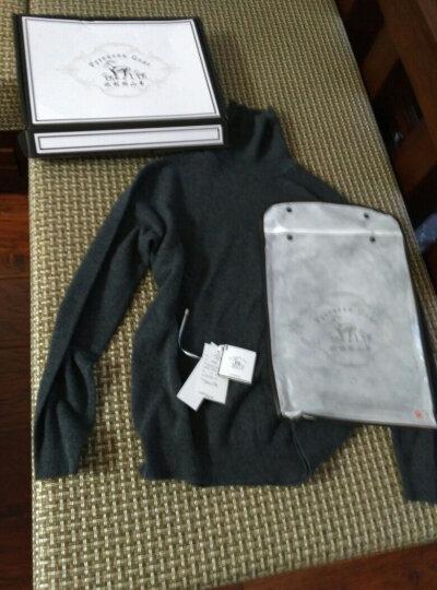 比利斯山羊羊绒衫男高领纯山羊绒商务套头毛衣打底针织衫B15191 深墨绿 175/115 晒单图