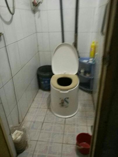 顺嘉利防滑移动马桶坐便器便携式孕妇老人塑料马桶坐便椅 防滑六代白色房间+厕所两用 晒单图