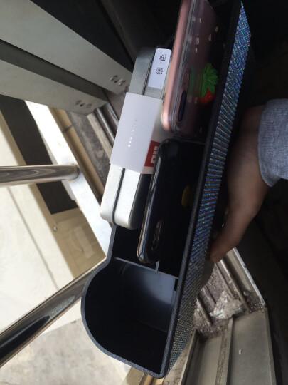 纳斯里(Nasili)汽车夹缝收纳盒车载储物盒车座椅缝隙储物盒防漏置物盒汽车用品储物袋 升级款预留充电孔【镶钻主驾驶】1个 晒单图