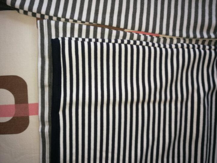 巴多熊 男童秋衣秋裤套装纯棉儿童内衣套装青少年保暖内衣加绒加厚单层两款 圆领灰条纹【单层】 160 晒单图