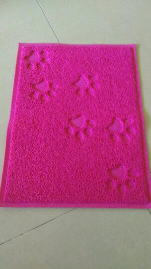 宠物猫砂垫 猫沙清洁垫子 猫猫蹭脚垫猫砂盆滤砂垫猫咪用品 方形爪印猫砂垫-红色 晒单图