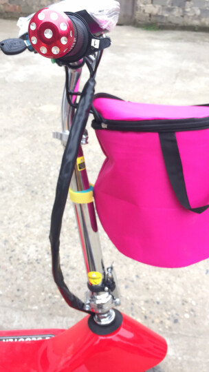 名萱(MINGXUAN) 小海豚女士迷你折叠车成人电瓶休闲车电动滑板车学生代步车 爬坡款:白色20-25KM 晒单图