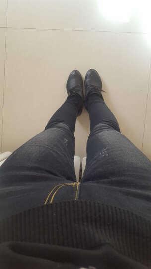 忆扬牛仔裤女加绒加厚高腰2018冬装新款伸紧小脚裤116 黑色加绒加厚 XXL码 晒单图