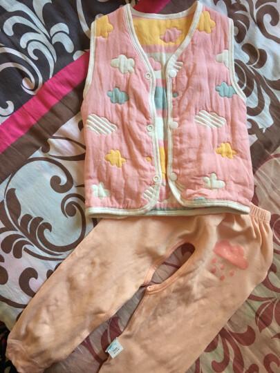 舒贝怡 婴儿马甲宝宝背心春秋男女童马夹婴儿衣服 双面款 粉色 73cm(7-12个月) 晒单图